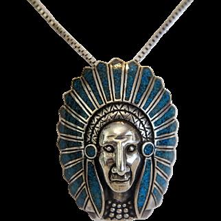 Vintage Native American silver pendant, first half 20th century
