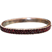 Victorian Bohemian Garnet bracelet, silver 800, 19th century
