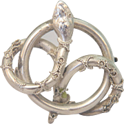 Antique silver snake brooch,silver 800, ca. 1900