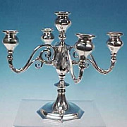Antique BEACON SILVER CO. Quadruple Silverplate Candelabra Candelabrum Four Arms Five Lights