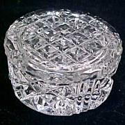 GORHAM CRYSTAL Round Lidded Trinket Box DIAMOND (HEX) c. 1969 - 1974 Discontinued