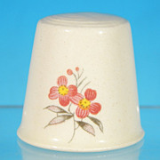 Vintage Retro 1970's PINK FLOWER Thimble