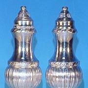 Vintage Silver Plate LURALINE Salt & Pepper Shakers Lazer Luria & Sons #650