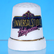 Vintage Porcelain Bone China Souvenir Thimble UNIVERSAL STUDIOS, HOLLYWOOD