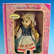 Vintage Boxed Collectible HOLLAND Dutch Doll / Bookcase Collectable Dolls by The New Bright Collection