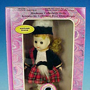 Vintage Boxed Collectible SCOTLAND / ÈCOSSE Doll / Bookcase Collectable Dolls by The New Bright Collection