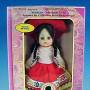 Vintage Boxed Collectible MEXICO / MEXIQUE Doll / Bookcase Collectable Dolls by The New Bright Collection