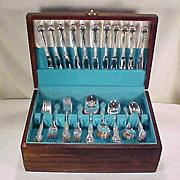 "Vintage COMMUNITY Silverplate Floral Flatware Set ""Affection"" Service for 12 (c. 1960)"