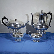 Antique English Silver Plate Ornate Engraved 4-Piece Tea Set CHARLES S GREEN & CO. LTD London, England