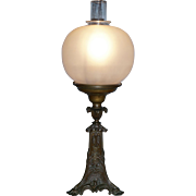 Period Solar Lamp with Blown Spherical Shade