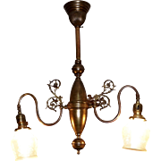 Two Arm Colonial Revival Electric Chandelier