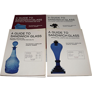 """Set of """"A Guide to Sandwich Glass Books"""" by Barlow & Kaiser"""