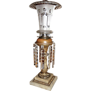 Solar Lamp in Original Oil Burning Condition with Double Marble Base