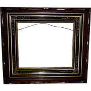 Eastlake Picture Frame with Carved Edge in Original Condition
