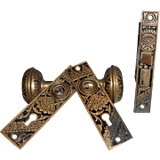Eastlake Door Lock, Knobs and Escutcheons