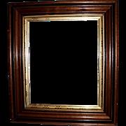 Victorian Walnut Frame with Ebonized Bands