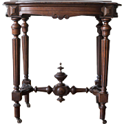 Victorian Walnut Parlor or Side Table