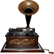 Edison Cylinder Phonograph with Cylinder Collection