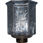 "Early,Rare Hall Lamp Glass Shade-As seen in the book ""The Glass Industry in Sandwich"""