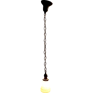 Early Electric Single Socket Drop Light with Opal Shade