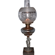 Kerosene Figural Lamp with a E.F. Jones Burner