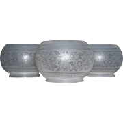 Set of Three Aesthetic Gas Shades with Holders