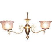 Two Arm Colonial Revival Gas Chandelier, Number 2
