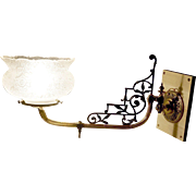Exceptional English Eastlake Swing Arm Gas Sconce - Red Tag Sale Item