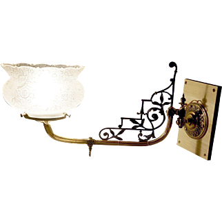 Exceptional English Eastlake Swing Arm Gas Sconce