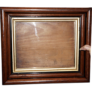 Victorian Walnut Frame with Ebonized Bands and Gilt Liner