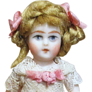 """3 1/4"""" Sweet Miniature All Bisque Dollhouse/ doll's doll"""