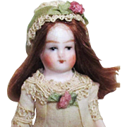 """Tiny 3"""" All Bisque Vintage Miniature Dollhouse doll, Doll's doll"""