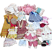 """Tiny vintage/ Antique dresses, hats, pants & more for Miniature All bisque Dolls (2 1/2"""" to7"""")"""