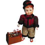 "Sweet 5"" All Bisque Vintage Googly boy doll (swivel neck)"