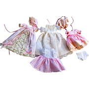 """Sweet 3 1/2"""" All Bisque  German Mignonette doll with vanity Box"""
