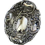 Antique Sterling Baroque Inspired Repousse Scroll and Floral Ring Trinket dish Cornelius Saunders & Frank Shepherd