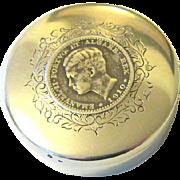 Edwardian Art Nouveau Sterling Silver Coin Snuff  Pill Box Hallmarked