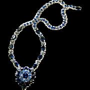 Shades of Blue Kramer of New York Austrian Crystal Sautoir Necklace - Signed