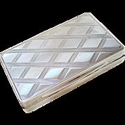Rare Antique Austro Hungarian 800 Silver Snuff Box
