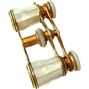 Rare Antique Audemair Paris Mother of Pearl Opera Glasses