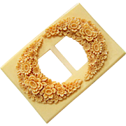 Ivory and Cream Celluloid Large Belt Buckle