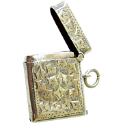 Edwardian Sterling Silver Ivy Clad Vesta Case