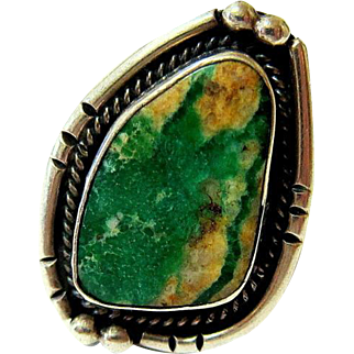 Navajo Cerrillos Turquoise Sterling Silver Ring