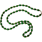 Art Deco End of Day Bakelite Bead Necklace - Flapper Style