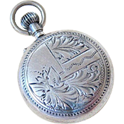Antique Sterling Silver Ladies Pocket Watch