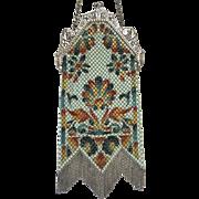 Vintage Mandalian Mesh Figural Scenic Swan Purse Bag Handbag