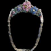 Vintage Jewelled Purse France Floral Display of Dazzling Gem Stones