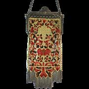Vintage Mandalian Mesh Purse Enamelled Bag Handbag