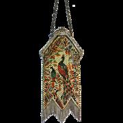 Vintage Mandalian Scenic Mesh Purse Peacocks Bag Handbag