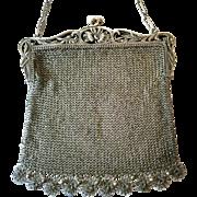 Vintage Silver Purse Bag Handbag
